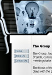 The Group web page screenshot